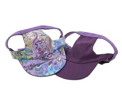 Purple Swirl Visor from Unikue Kreations
