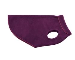 Purple Plum with Raspberry Trim Deluxe Fleece Pullover