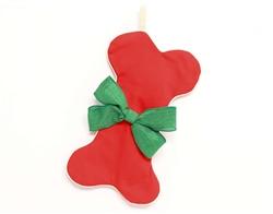 Classic Red Dog Bone Christmas Stocking