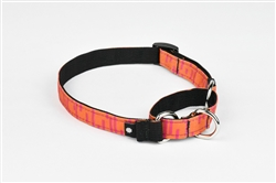 Coral Martingale Dog Collar
