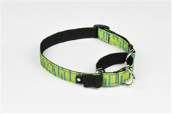 Lime Martingale Dog Collar
