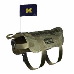Michigan Wolverines Tactical Dog Vest