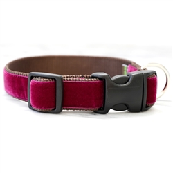 'Merlot' Red Velvet Collars & Leashes