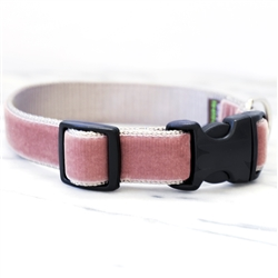 'Stella' Dusty Rose Velvet Collars & Leashes