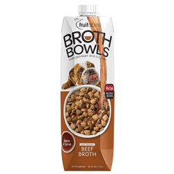 Fruitables Beef Broth Bowls - 33.8 oz (8 Per Case)