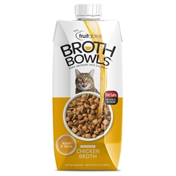 Fruitables Chicken Broth Bowl for Cats (12 Per Case)