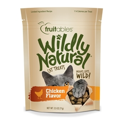Fruitables Wildly Natural Chicken Cat Treats (12 Per Case)