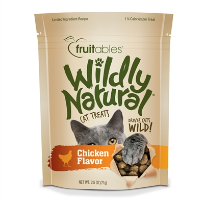 Fruitables Wildly Natural Chicken Cat Treats (12 Per Case)