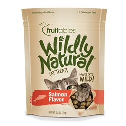 Fruitables Wildly Natural Salmon Cat Treats (12 Per Case)