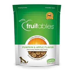 Fruitables Pumpkin & Apple Dog Treats - 7 oz (8 Per Case)