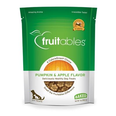 Fruitables Pumpkin & Apple Dog Treats - 7 oz (8 Per Case)