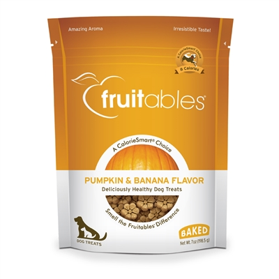 Fruitables Pumpkin & Banana Dog Treats - 7 oz (8 Per Case)