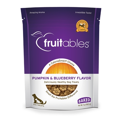Fruitables Pumpkin & Blueberry Dog Treats - 7 oz (8 Per Case)