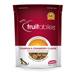 Fruitables Pumpkin & Cranberry Dog Treats - 7 oz (8 Per Case)