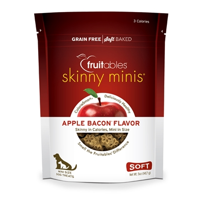 Fruitables Apple Bacon Skinny Mini Dog Treats (12 Per Case)