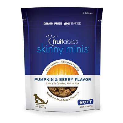 Fruitables Pumpkin & Berry Skinny Mini Dog Treats (12 Per Case)