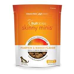 Fruitables Pumpkin & Mango Skinny Mini Dog Treats (12 Per Case)