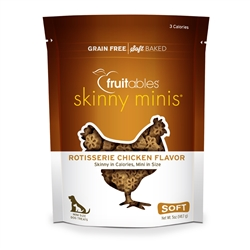 Fruitables Rotisserie Chicken Skinny Mini Dog Treats (12 Per Case)
