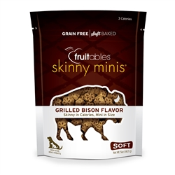 Fruitables Grilled Bison Skinny Mini Dog Treats (12 Per Case)