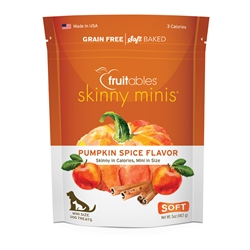 Fruitables Pumpkin & Spice Skinny Mini Dog Treats (12 Per Case)