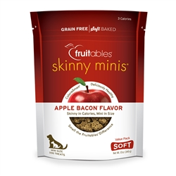 Fruitables Apple Bacon Skinny Mini Dog Treats (8 Per Case)