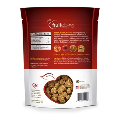 Fruitables Apple Bacon Skinny Mini Dog Treats (8 Per Case)