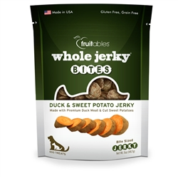Fruitables Jerky Bites Duck & Sweet Potato Dog Treats - 5 oz (8 Per Case)