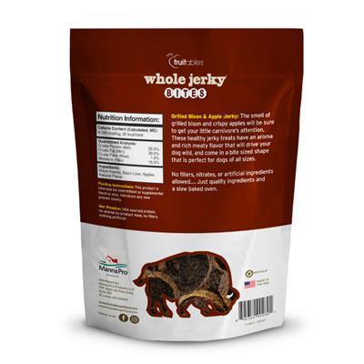 Fruitables Jerky Bites Grill Bison Dog Treats - 5 oz (8 Per Case)