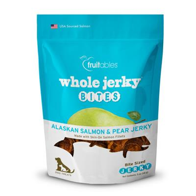Fruitables Jerky Bites Alaskan Salmon Dog Treats - 5 oz (8 Per Case)