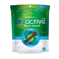 Fruitables Small BioActive Fresh Mouth Dental Chews - 15 count (8 Per Case)