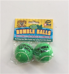 Rumble Tennis Balls 1.75 inch 2 pack (Mint)