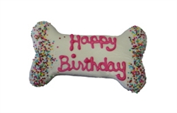 Pink Birthday Bone