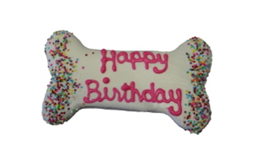 Pink Birthday Bone