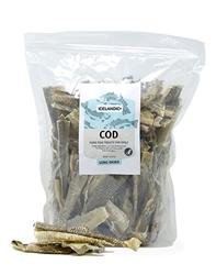 Icelandic+ Cod Skin Strips (Fish Treat) - 1lb Bulk Bag, mixed pieces