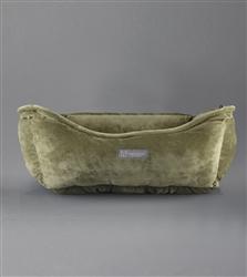 NANDOG MICRO PLUSH REVERSIBLE OLIVE DOG BED