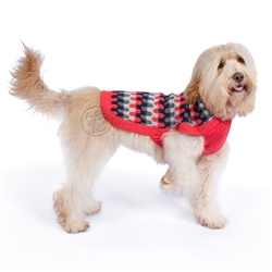 Coral Waves Dog Sweater