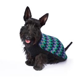 Black Waves Dog Sweater