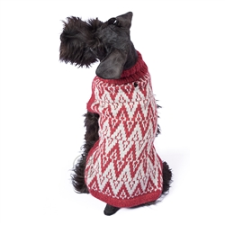 Red Andean Peaks Sweater