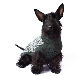 Green Andean Peaks Sweater
