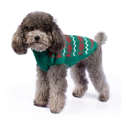 Alpaca Green Christmas Sweater