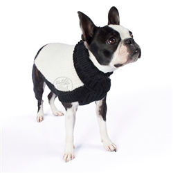 Alpaca Black and White Double Trouble Luxe Sweater