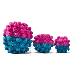 Fuchsia - Turquoise Crochet Ball Dog Toy