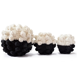 Black - White Crochet Ball Dog Toy