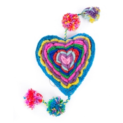 Multicolor Heart Dog Toy