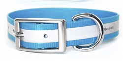 Waterproof Reflective Dog Collar -- Blue Biothane