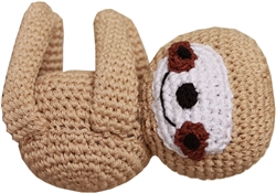 Fraggles the Funny Baby Sloth - Knit Knacks - Organic Cotton Crocheted Dog Toys