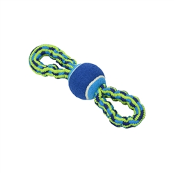 BUSTER Bungee Rope Dog Toy, Double Handle with Tennis Ball