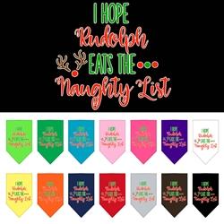 Hope Rudolph Eats Naughty List Screen Print Bandana