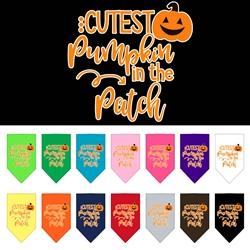 Cutest Pumpkin Screen Print Bandana  - Halloween!