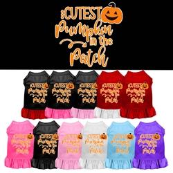 Cutest Pumpkin Screen Print Dog Dress  - Halloween!